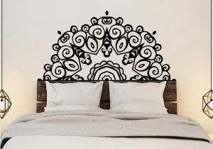 Wall Mural Stickers for Kids Rooms Headboard Wall Sticker Wall Mural Bed Bedside Mandala Vinyl