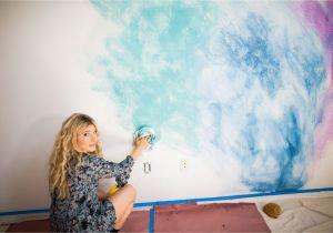 Wall Mural Tutorial Diy Watercolor Mural Wall In 2019 Diy