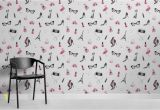 "Wall Mural Vs Wallpaper Tapeten Wandbild ""fashion Illustration"""