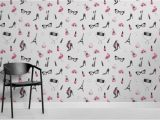 "Wall Mural Vs Wallpaper Tapeten Wandbild ""fashion Illustration"""