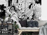 Wall Mural Wallpaper Black and White Ft 6556 Fototapete Drawstore Pickup