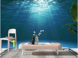 Wall Mural Wallpaper Ebay Details About 3d Dark Blue Ocean Surface Self Adhesive Wall Murals Bedroom Wallpaper Decor
