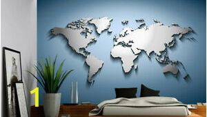 Wall Mural Wallpaper Ebay Details About Peel & Stick Mural Self Adhesive Vinyl Wallpaper 3d Silver Blue World Map