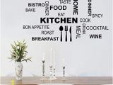 Wall Murals Amazon Uk Decalmile Kitchen Food Quotes Wall Decals Black Wall Letters Stickers Dining Room Kitchen Wall Art Decor