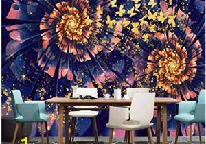 Wall Murals Amazon Uk Modern Dreamy Golden butterfly Flower Wall Murals