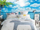 Wall Murals Beach theme Blue Sky White Clouds Beach View 3d Tv Wall Mural 3d Wallpaper 3d Wall Papers for Tv Backdrop Wallpapers S Wallpapers Screensavers From