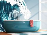 Wall Murals Beach theme Vinyl Wall Decal Sticker Ocean Wave Aqua Mcrespo104s