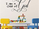 Wall Murals Bible Stories Amazon Children S Room Christian Wall Art Wall Sticker I Am A
