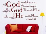 Wall Murals Bible Stories Amazon Wall Decals Quotes Bible Verse Psalm Genesis 1 27 so God