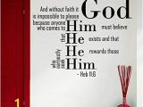 Wall Murals Bible Stories Amazon Wall Decals Quotes Bible Verse Psalm Hebrews 11 6 and
