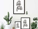 Wall Murals Bible Stories His Love Never Fails Christian Prints Poster Bible Verse Canvas