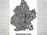 Wall Murals Buffalo Ny Amazon Brooklyn Typography Neighborhood Map Art City
