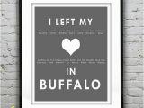 Wall Murals Buffalo Ny Buffalo New York I Left My Heart In Buffalo Poster Art Print Ny Christmas Holiday Sale