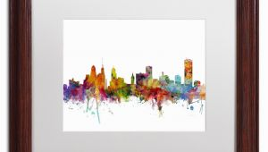 Wall Murals Buffalo Ny Michael tompsett Buffalo New York Skyline White Matte