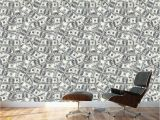 Wall Murals by Wall 26 Wall26 100 Dollar Bills Collage Background Money