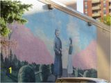 Wall Murals Calgary A Big Mural Quite Schmaltzy Picture Of Chinatown Calgary