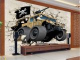 Wall Murals Childrens Rooms Us $13 76 Off Custom Mural Wallpaper 3d Cartoon Broken Wall Out Car Photo Wallpaper Children Bedroom Living Room Tv Background Home Decor In
