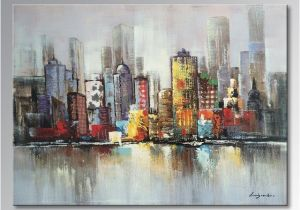 Wall Murals Cityscapes Art Handmade Oil Paintings Modern Decoration Canvas Wall Art Picture