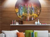Wall Murals Cityscapes Designart Singapore Skyline View Of Marina Bay Cityscape Circle