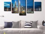 Wall Murals Cityscapes Kuala Lumpur Cityscape Of Twin tower Canvas Wall Art