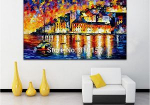 Wall Murals Cityscapes Palette Knife Oil Painting Water City Architecture Castle Cityscape