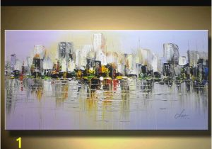 Wall Murals Cityscapes Wall Art Cityscape Abstract Multi Colored Modern Textured Landscape