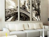 Wall Murals Eiffel tower No Frame Wall Art Canvas Painting for Living Room Paris City Eiffel tower Home Decor Modern Canada 2019 From Zjh1991 Cad $14 82