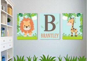 Wall Murals for Baby Boy Nursery Safari Nursery Wall Art Safari Nursery Decor Boy Nursery