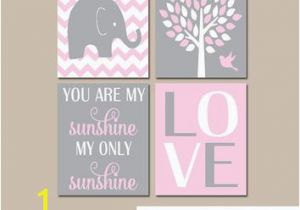 Wall Murals for Baby Girl Nursery Pink Gray Nursery Girl Elephant Nursery Wall Art Baby Girl Nursery