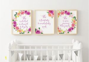 Wall Murals for Baby Girl Nursery Set Of 3 Baby Girl Nursery Bible Verses Christian Nursery