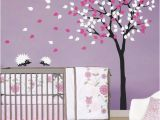 Wall Murals for Baby Rooms Baby Nursery Wall Decals Tree Wall Decal Tree Decal Hedgehog