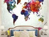 Wall Murals for Dorm Rooms Amazon Ameyahud World Map Tapestry Watercolor World