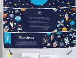 Wall Murals for Dorm Rooms Amazon Ygyirri Tapestry Wall Universe Outer Space