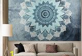 "Wall Murals for Dorm Rooms Apher India Bohemian Mandala Tapestry Wall Hangings Bedspread Blanket Beach towel Wall Art for Living Room Bedroom Dorm Decor 60"" X 80"""