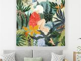 Wall Murals for Dorms Summer Girl Room College Dorm Wall Hanging Cloth Modern Tropical Tapestry Decorative Tenture Mural Tapestries Cheap Tapestries for Bedrooms From