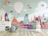 Wall Murals for Girls Bedroom Kids Wallpaper Historical Places Wall Mural Hot Air Balloon