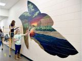 Wall Murals for Hallways Mural Support Williston Students Decorate Halls Of New High