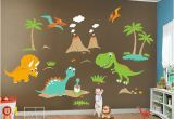 Wall Murals for Kids Playrooms Children Wall Decals Dino Land Dinosaurs Wall Decal Wall Sticker