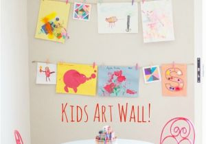 Wall Murals for Kids Playrooms Displaying Kids Art Home for the Kids Pinterest