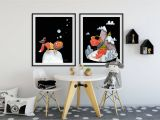 Wall Murals for Kids Playrooms Nursery Wall Art Set Of 6 Fox Prints Baby Boy & Girl Kids Room Art