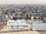 Wall Murals for Living Room India Aerial View Od Old Delhi India Wall Mural