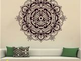 Wall Murals for Living Room India Wall Decals Mandala Indian Pattern Yoga Oum Om Sign Decal