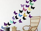 Wall Murals for Teenagers Artsy butterfly Decor Wall Decals 30 Stickers Products