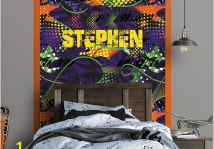 Wall Murals for Teens Graffiti Personalized Repositionable Wallpaper Peel and Stick