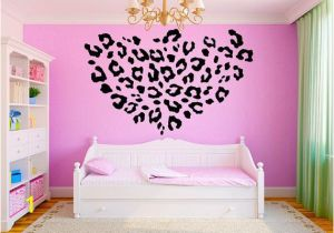"Wall Murals for Teens Leopard Print Girls Teen Room Vinyl Wall Decal Graphics 22""x22"