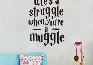 "Wall Murals for Teens Life is A Struggle "" Funny Harry Potter Wall Stickers Quotes Vinyl"