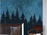 Wall Murals forest Scene forest Trees Night Scene Mural Wallpaper 4 Sheet Pack 2ft X 9ft