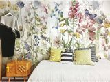 Wall Murals From Your Photos F Watercolor Floral Wallpaper Fresh Spring