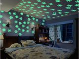 Wall Murals Glow In the Dark Colorful Luminous Home Snowflake Wall Sticker Glow In the Dark Decal for Kids Baby Rooms Christmas Stickers Home Decor Decal Your Wall Decals From