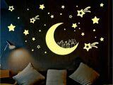 Wall Murals Glow In the Dark Glow In the Dark Stars Multi Pack Moon Stickers Kids Bedroom